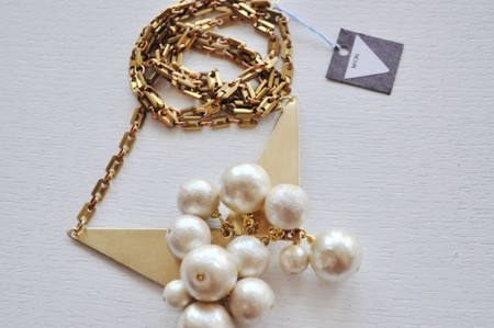 MIONjewelry - cotton pearl necklace
