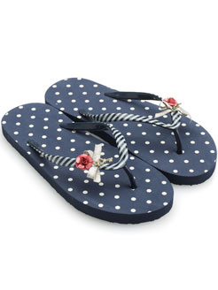 Accessorize - Key to my Heart Polka Dot Plastic Flip Flop