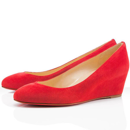 Christian Louboutin - Peanut Wedge Pumps Red