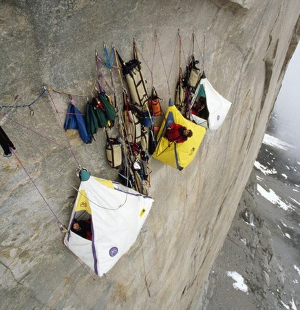 Extreme Cliff Camping