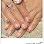 coquine nail - Rough touch  French nail