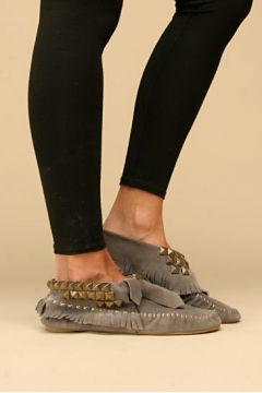 JEFFREY CAMPBELL - Studded Cross Stitch Moccasins