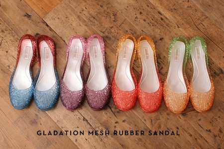 Tea Spoon - Gradation Mesh Rubber Sandal