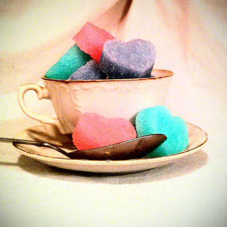 * - heart shaped sugar cubes