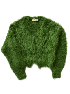 TOGA - Metal Mohair Knit Cardigan  (light green)