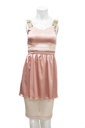 "PEARL - 2011 aw under dress "" Doll pink / Beige """