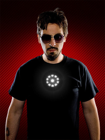 Tony Stark - Light up LED Iron Man Shirt