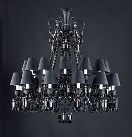 Baccarat - BLACK ZENITH 24 lights by Philippe Starck