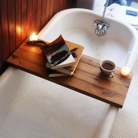 PegandAwl - Tub Caddy made of Reclaimed Oak from a Broken Down Hardware Store