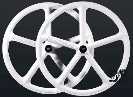 Aerospoke - 700c Rear Track Wheel White