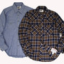 Engineered Garments - Weatern Shirt,Flannel Plaid Navy/Brown