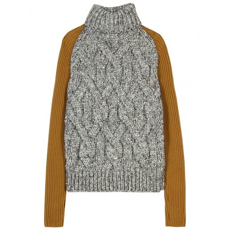 CARVEN - CONTRAST KNIT PULLOVER