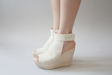 Lambs Ear Shoes  - OPEN WEDGE SANDAL by Common Projects