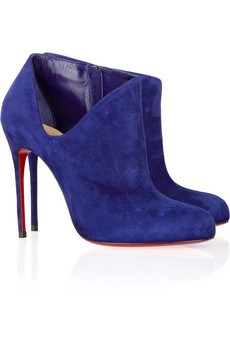 Christian Louboutin - Lisse 100 suede ankle boots