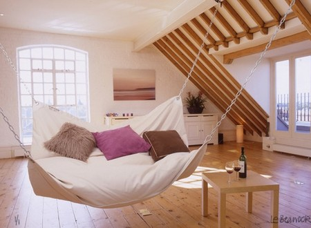 Le Beanock - contemporary furniture twist on beanbag and hammock
