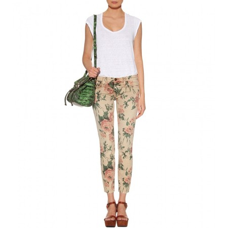 Current Elliott - THE STILETTO FLORAL PRINT SKINNY JEANS