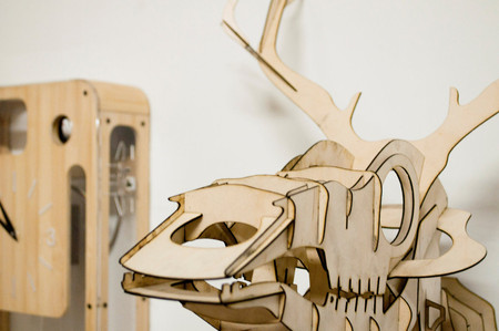 pedromealha - Goldfuss - plywood taxidermy skull deer trophy
