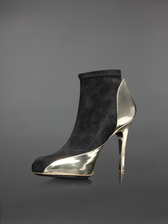 MAISON MARTIN MARGIELA - ANKLE BOOTS WITH GOLD DETAILS