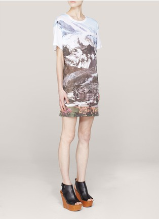Carven - Printed cotton T-shirt dress
