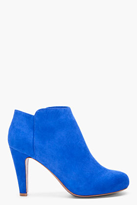 SEE BY CHLOE - Blue Suede Ankle Boots