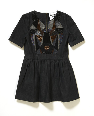 Beyond The Valley - Spangle Patch Denim Dress