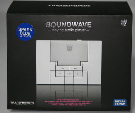 TAKARA TOMY - TRANSFORMERS MUSIC LABEL SOUNDWAVE playing audio player (ソニックホワイト)