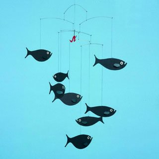 Flensted Mobiles - shoal of fish mobile
