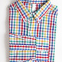 American Apparel - Gingham Long Sleeve Button-Down Shirt With Pocket (Rainbow Gingham)