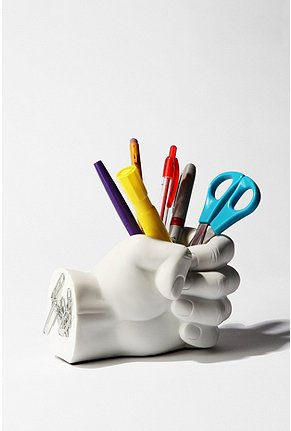 Tech Tools - Desktop Madness Series Hand Pen Holder with Magnetic Back