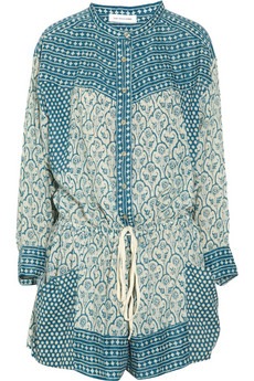 Étoile Isabel Marant  - Hana printed cotton-voile playsuit