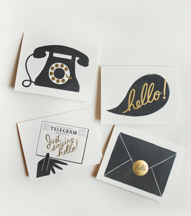 RIFLE PAPER CO. - Assorted 'Hello' Cards