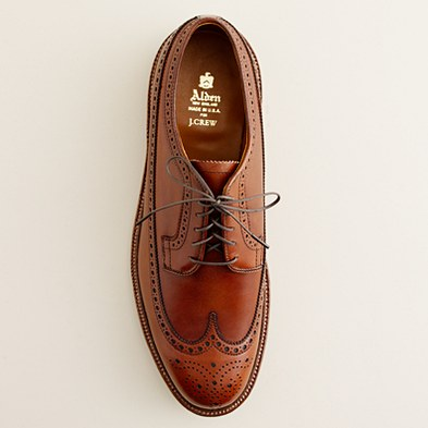 Alden - R for J.Crew waxed Longwing bluchers