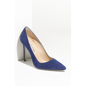 "Manolo Blahnik - ""BB"" Pointy Toe Pumps"
