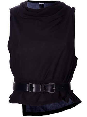 ANN DEMEULEMEESTER - SLEEVELESS WRAP TOP