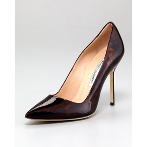 Manolo Blahnik - Tortoise Patent Leather Pump