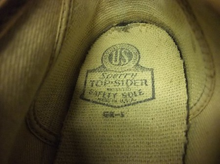TOP SIDER - CANVAS DECK SHOE, US ARMY (1940'S OLD)