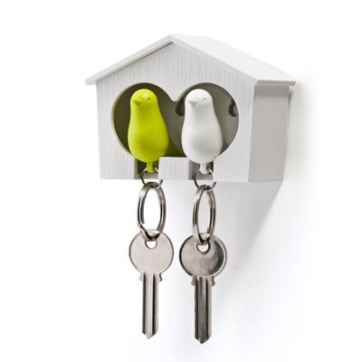 Qualy - DUO Sparrow Key Ring