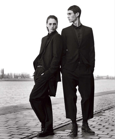 DIOR HOMME petite taille - black jacket and pants
