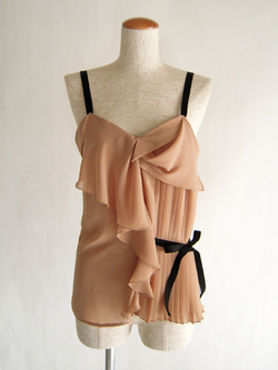 SEE BY CHLOE - Tank top with asymmetrical ruffles