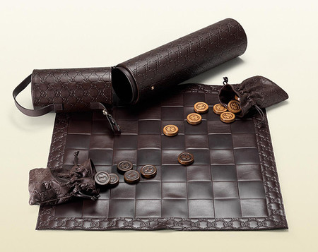 Gucci - Leather Checkers Set