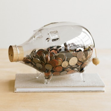 VivaTerra -  Glass Piggy Bank
