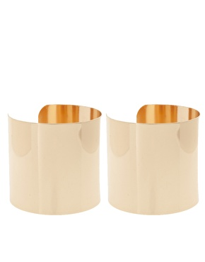 asos - Pack of Two Smooth Double Cuffs