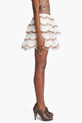MARC JACOBS - Tiered Scallop Skirt