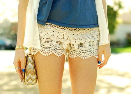 Lace Tier Hot Pants  - Lace Tier Hot Pants