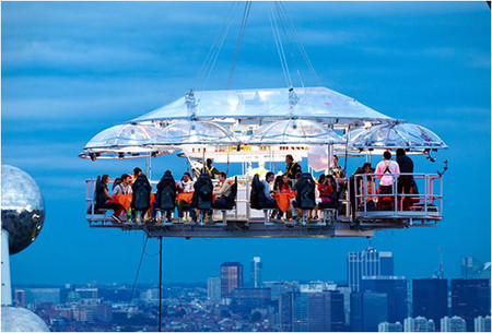 Dinner In the Sky - Crane Suspended Dining With A View