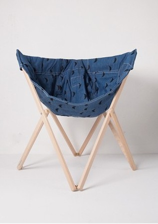 bobochoses - Chair Black Moons - Denim
