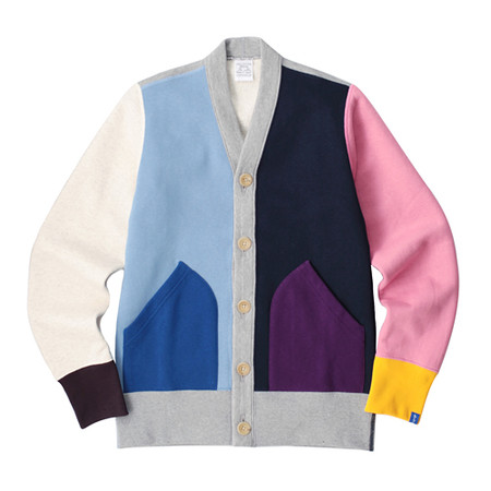 LOOPWHEELER - LW Light Multi color cardigan