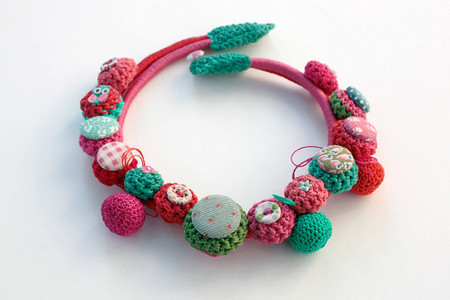rRradionica - Handmade crochet textile necklace