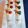 Stars & Stripes Cheesecake Shots