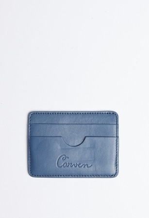 CARVEN LEATHER CARDHOLDER BLUE